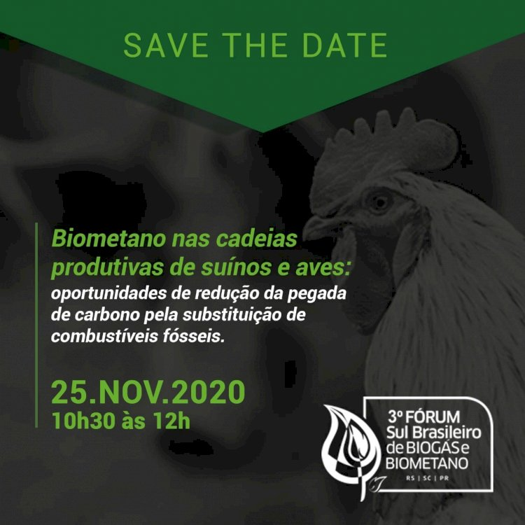 Biometano nas cadeias produtivas de suínos e aves