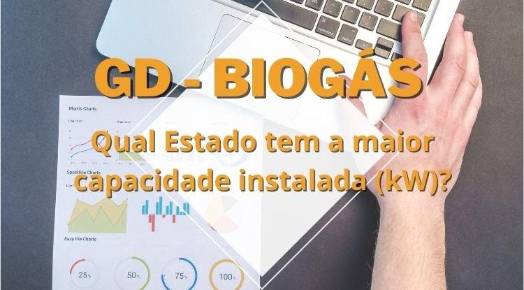Geração Distribuída com fonte Biogás - Evolução da capacidade instalada (kW) no Brasil