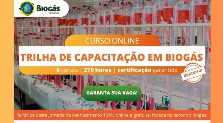 Curso online Trilha da Capacitação em Biogás
