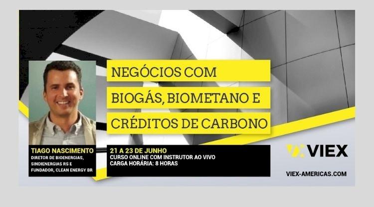 Curso de Negócios com Biogás, Biometano e Crédito de Carbono