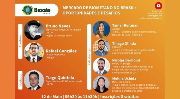 Webinar Mercado de Biometano no Brasil: Oportunidades e Desafios