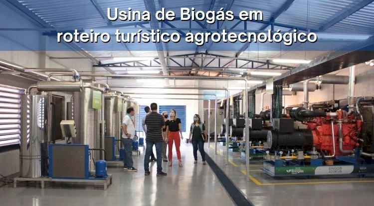 Usina de Biogás em Roteiro Turístico Agrotecnológico
