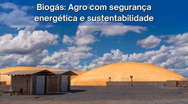 Biogás: Agro com segurança energética e sustentabilidade