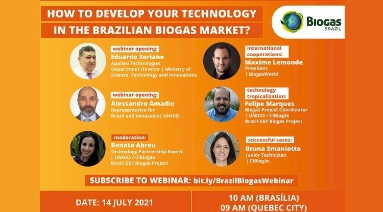 WEBINAR BiogasWorld: Como desenvolver sua tecnologia no Brasil