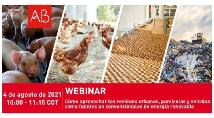 Webinar: Como aproveitar os resíduos urbanos, suínos e avícolas como fontes não convencionais de energia renovável - Colômbia