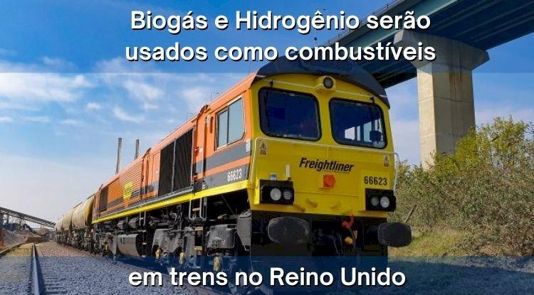 Biogás e Hidrogênio como combustíveis para trens no Reino Unido