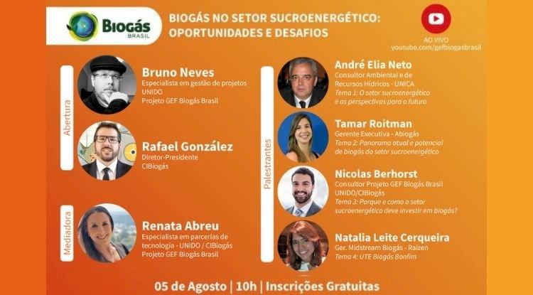 Live - Biogás no setor sucroenergético: oportunidades e desafios