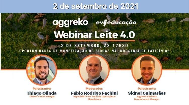 Webinar Leite 4.0 - Oportunidades de monetização do biogás na indústria de laticínios