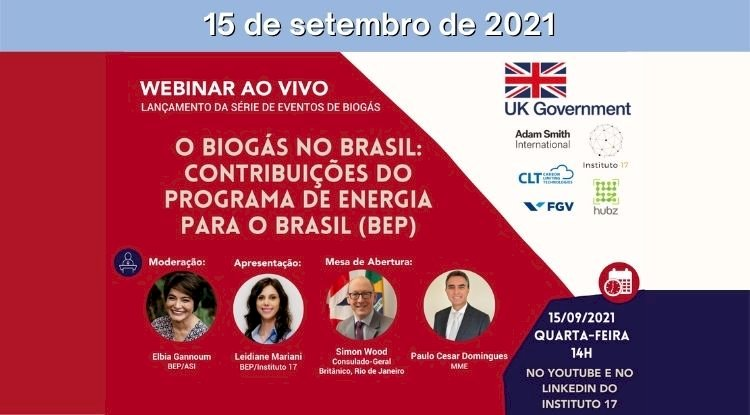 Webinar O Biogás no Brasil: Contribuições do Programa de Energia para o Brasil (BEP)